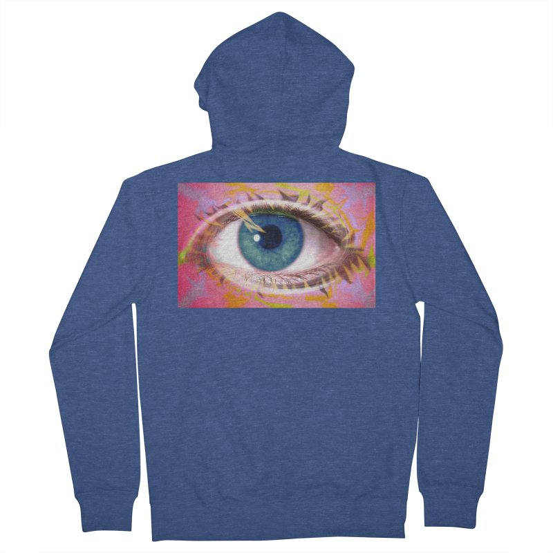 Feathery Eye: Part of the Eye Series Men's Zip-Up Hoody by InspiredPsychedelics's Artist Shop