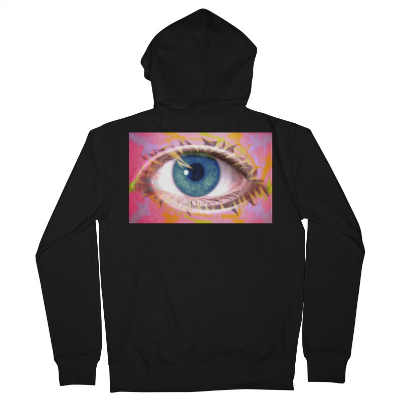 Feathery Eye: Part of the Eye Series Men's French Terry Zip-Up Hoody by InspiredPsychedelics's Artist Shop