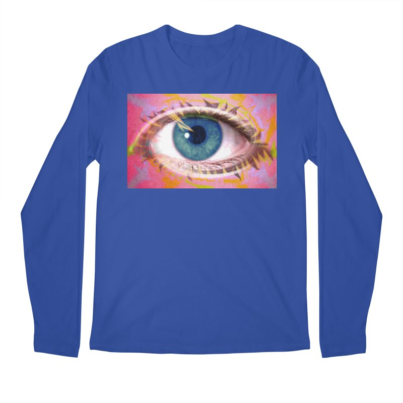 Feathery Eye: Part of the Eye Series Men's Regular Longsleeve T-Shirt by InspiredPsychedelics's Artist Shop