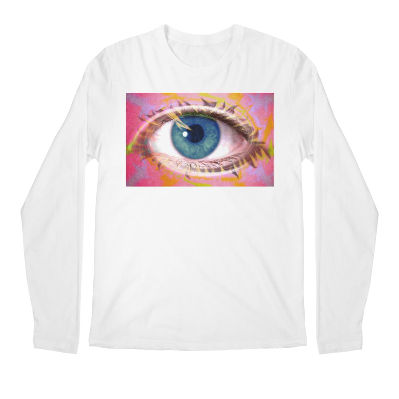 Feathery Eye: Part of the Eye Series Men's Longsleeve T-Shirt by InspiredPsychedelics's Artist Shop