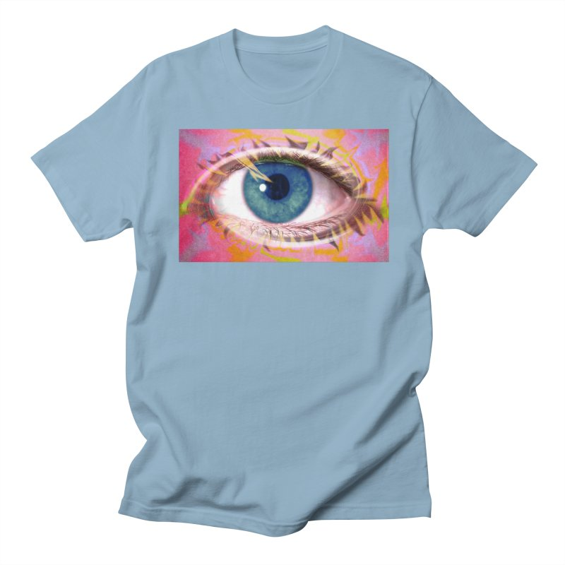 Feathery Eye: Part of the Eye Series Men's T-Shirt by InspiredPsychedelics's Artist Shop