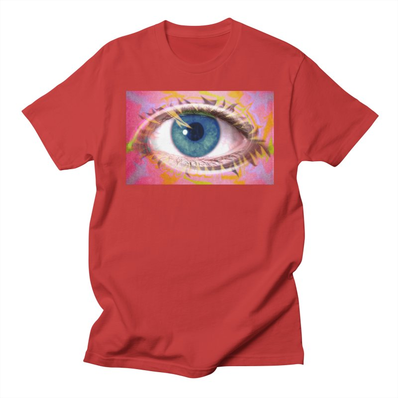Feathery Eye: Part of the Eye Series Women's Regular Unisex T-Shirt by InspiredPsychedelics's Artist Shop