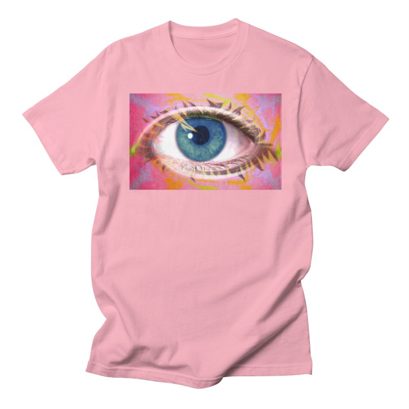 Feathery Eye: Part of the Eye Series Men's Regular T-Shirt by InspiredPsychedelics's Artist Shop