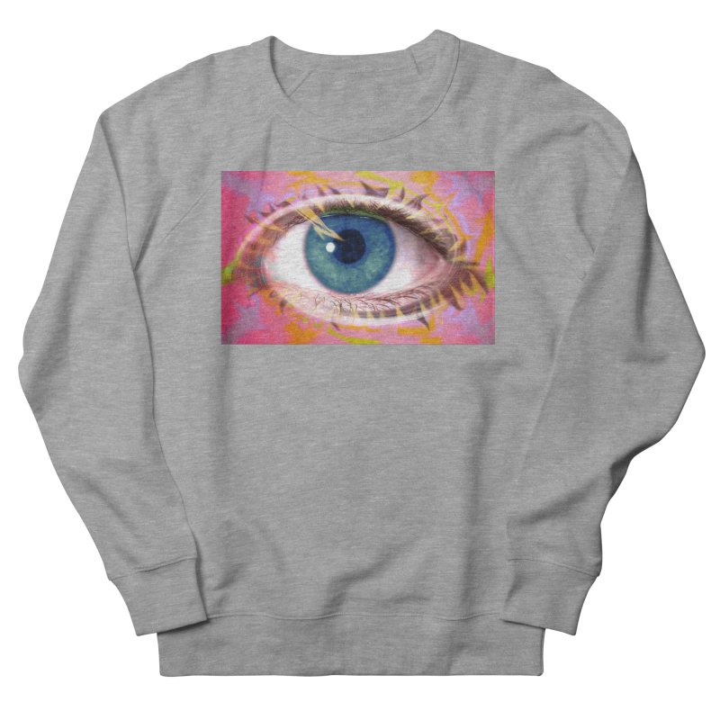 Feathery Eye: Part of the Eye Series Women's Sweatshirt by InspiredPsychedelics's Artist Shop
