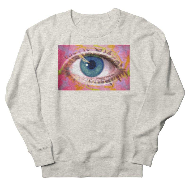 Feathery Eye: Part of the Eye Series Women's Sweatshirt by InspiredPsychedelics's Artist Shop