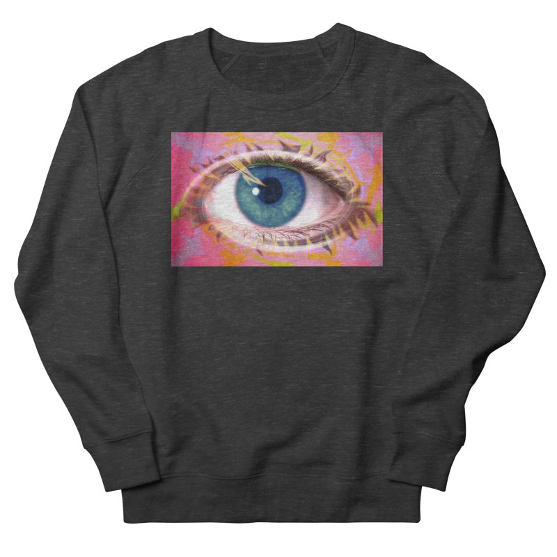 Feathery Eye: Part of the Eye Series Men's French Terry Sweatshirt by InspiredPsychedelics's Artist Shop