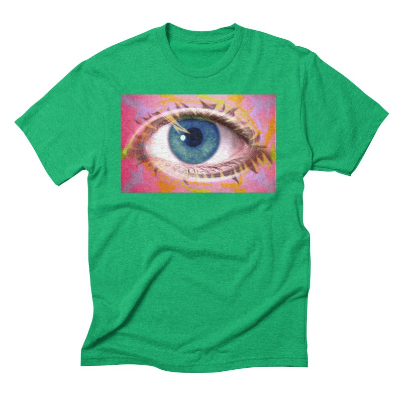 Feathery Eye: Part of the Eye Series Men's Triblend T-Shirt by InspiredPsychedelics's Artist Shop