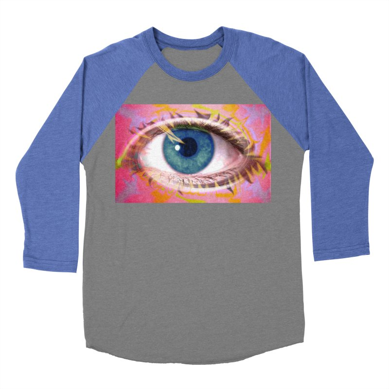 Feathery Eye: Part of the Eye Series Women's Baseball Triblend Longsleeve T-Shirt by InspiredPsychedelics's Artist Shop