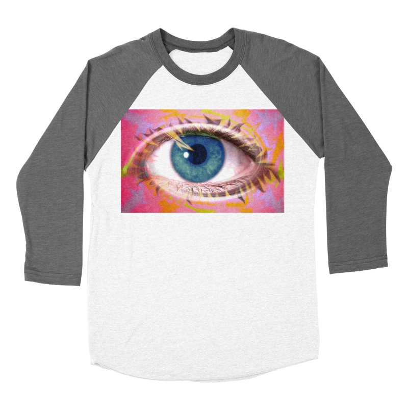 Feathery Eye: Part of the Eye Series Men's Baseball Triblend T-Shirt by InspiredPsychedelics's Artist Shop