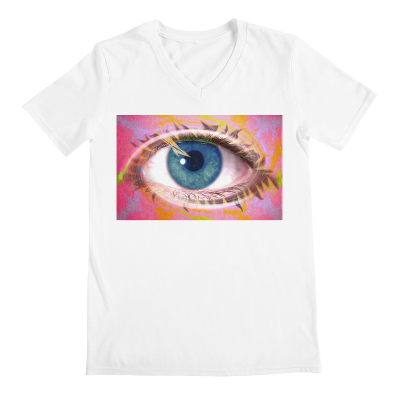 Feathery Eye: Part of the Eye Series Men's V-Neck by InspiredPsychedelics's Artist Shop