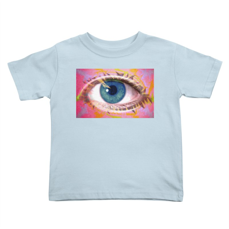 Feathery Eye: Part of the Eye Series Kids Toddler T-Shirt by InspiredPsychedelics's Artist Shop