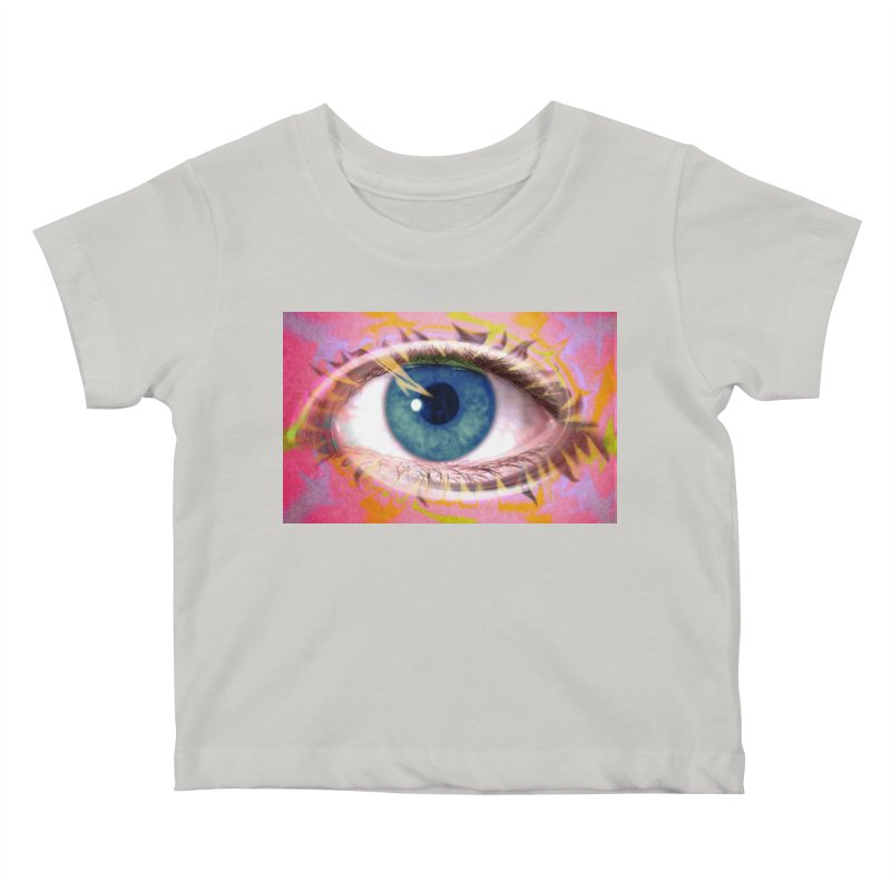 Feathery Eye: Part of the Eye Series Kids Baby T-Shirt by InspiredPsychedelics's Artist Shop