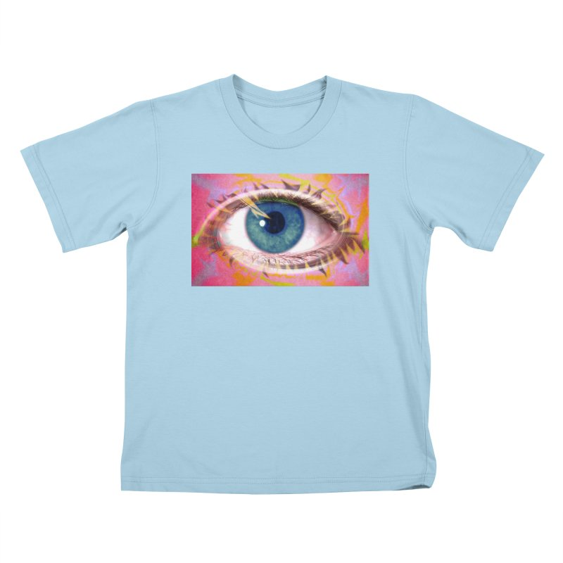 Feathery Eye: Part of the Eye Series Kids T-Shirt by InspiredPsychedelics's Artist Shop