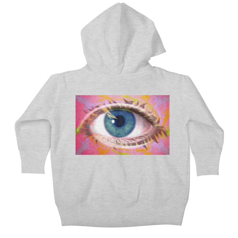 Feathery Eye: Part of the Eye Series Kids Baby Zip-Up Hoody by InspiredPsychedelics's Artist Shop