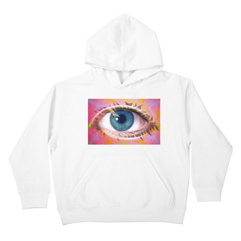 Feathery Eye: Part of the Eye Series Kids Pullover Hoody by InspiredPsychedelics's Artist Shop