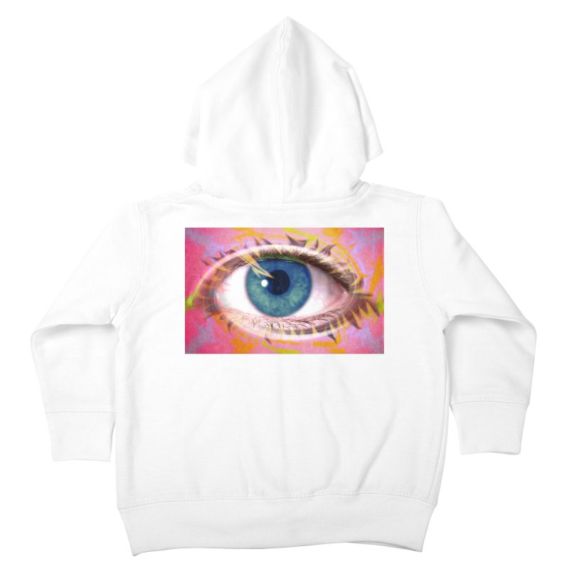 Feathery Eye: Part of the Eye Series Kids Toddler Zip-Up Hoody by InspiredPsychedelics's Artist Shop