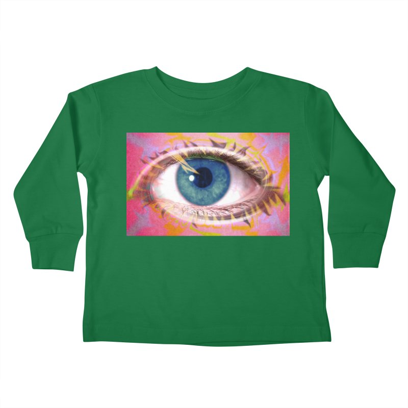 Feathery Eye: Part of the Eye Series Kids Toddler Longsleeve T-Shirt by InspiredPsychedelics's Artist Shop
