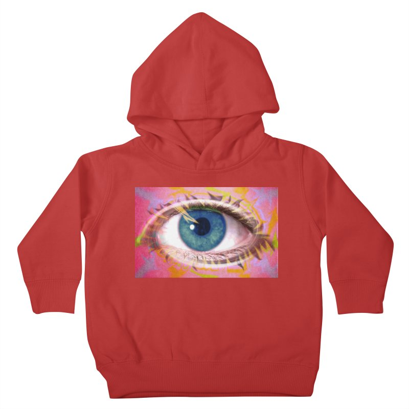 Feathery Eye: Part of the Eye Series Kids Toddler Pullover Hoody by InspiredPsychedelics's Artist Shop