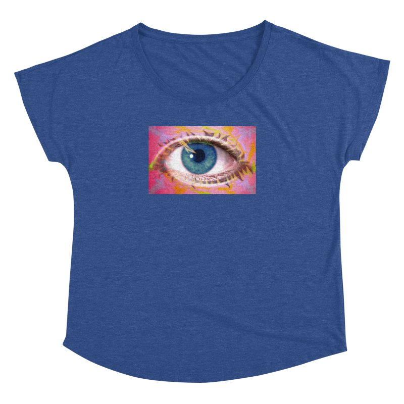 Feathery Eye: Part of the Eye Series Women's Dolman Scoop Neck by InspiredPsychedelics's Artist Shop