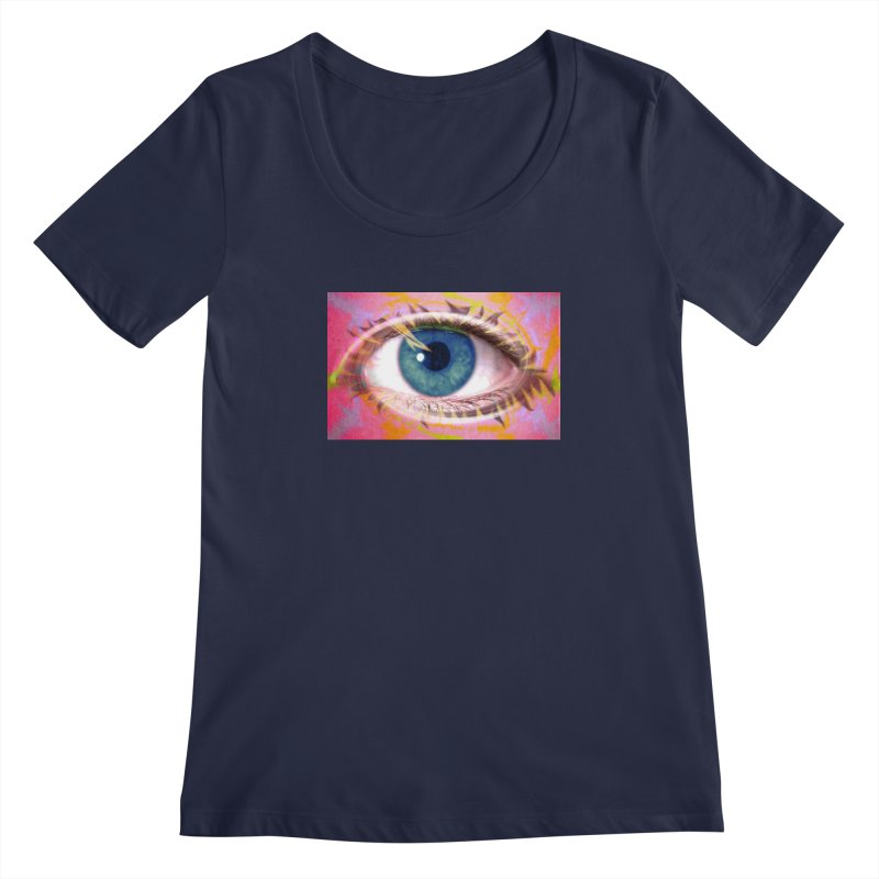 Feathery Eye: Part of the Eye Series Women's Regular Scoop Neck by InspiredPsychedelics's Artist Shop