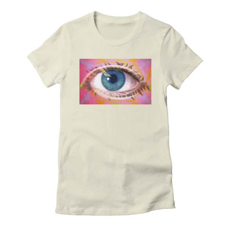 Feathery Eye: Part of the Eye Series Women's Fitted T-Shirt by InspiredPsychedelics's Artist Shop