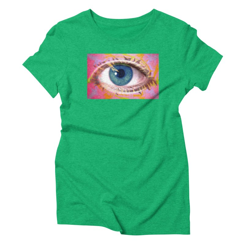 Feathery Eye: Part of the Eye Series Women's Triblend T-Shirt by InspiredPsychedelics's Artist Shop