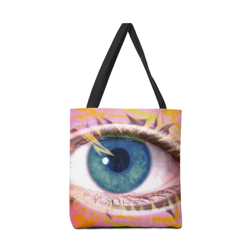 Feathery Eye: Part of the Eye Series Accessories Bag by InspiredPsychedelics's Artist Shop