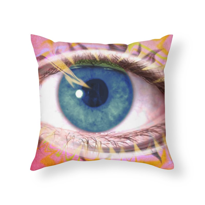 Feathery Eye: Part of the Eye Series Home Throw Pillow by InspiredPsychedelics's Artist Shop