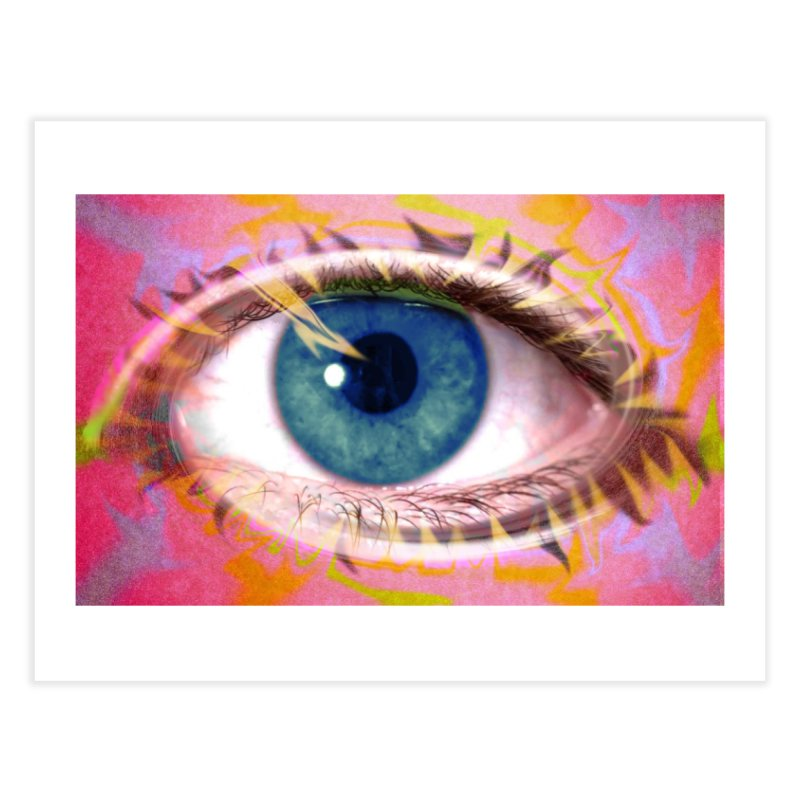 Feathery Eye: Part of the Eye Series Home Fine Art Print by InspiredPsychedelics's Artist Shop