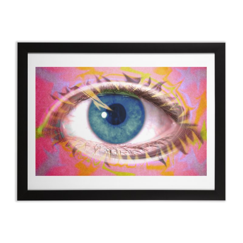Feathery Eye: Part of the Eye Series Home Framed Fine Art Print by InspiredPsychedelics's Artist Shop