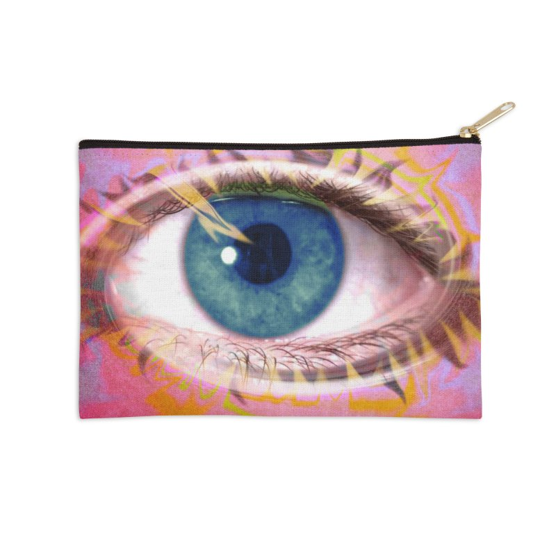 Feathery Eye: Part of the Eye Series Accessories Zip Pouch by InspiredPsychedelics's Artist Shop