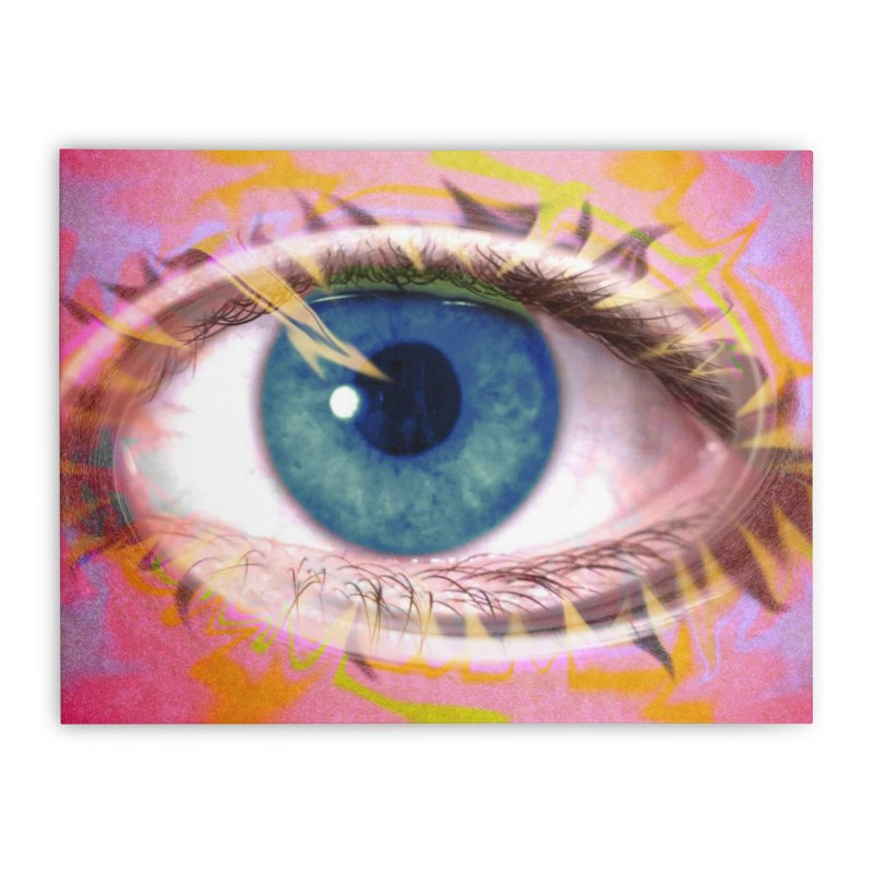 Feathery Eye: Part of the Eye Series Home Stretched Canvas by InspiredPsychedelics's Artist Shop
