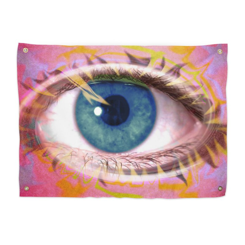 Feathery Eye: Part of the Eye Series Home Tapestry by InspiredPsychedelics's Artist Shop
