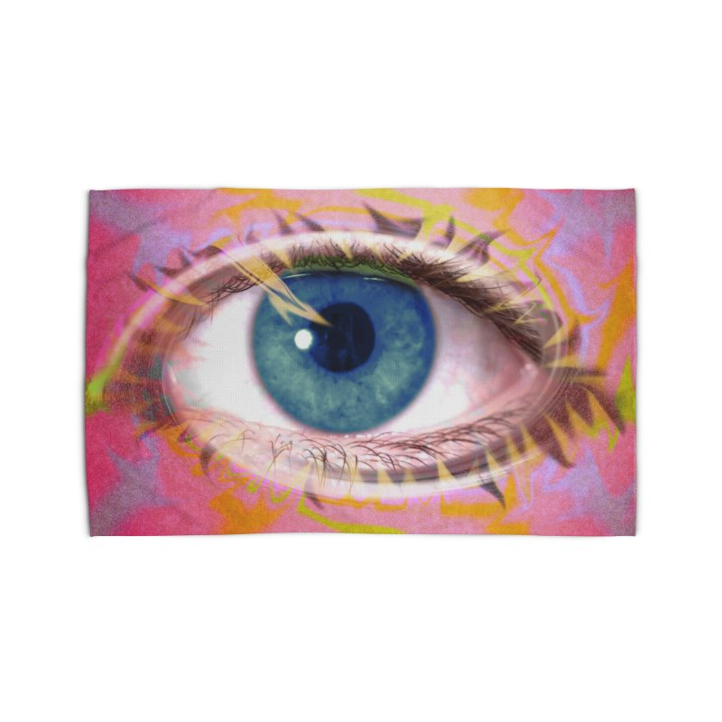 Feathery Eye: Part of the Eye Series Home Rug by InspiredPsychedelics's Artist Shop