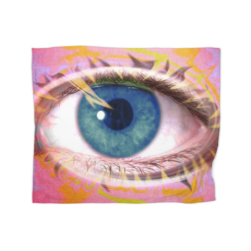 Feathery Eye: Part of the Eye Series Home Blanket by InspiredPsychedelics's Artist Shop