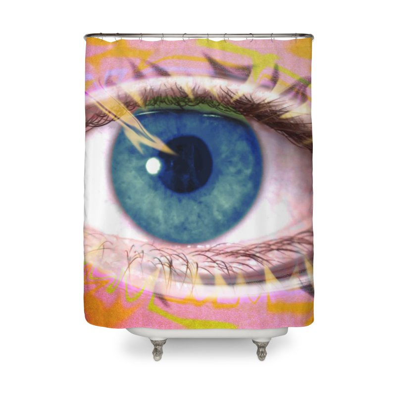 Feathery Eye: Part of the Eye Series Home Shower Curtain by InspiredPsychedelics's Artist Shop