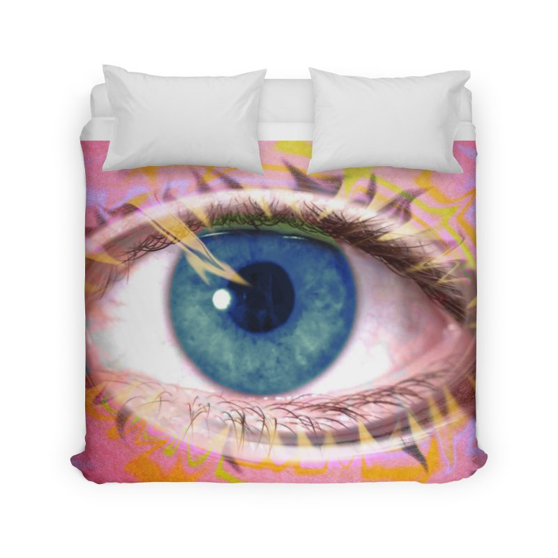 Feathery Eye: Part of the Eye Series Home Duvet by InspiredPsychedelics's Artist Shop