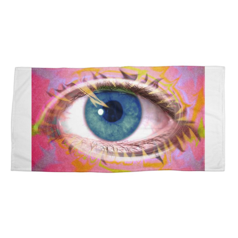 Feathery Eye: Part of the Eye Series Accessories Beach Towel by InspiredPsychedelics's Artist Shop