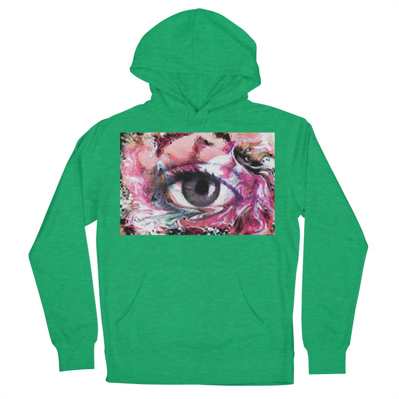 Eye Fancy Pink: Part of the Eye Series Women's Pullover Hoody by InspiredPsychedelics's Artist Shop