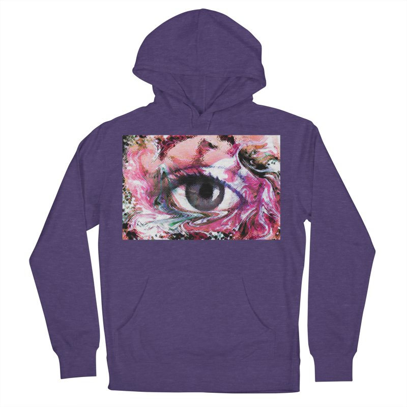 Eye Fancy Pink: Part of the Eye Series Men's French Terry Pullover Hoody by InspiredPsychedelics's Artist Shop