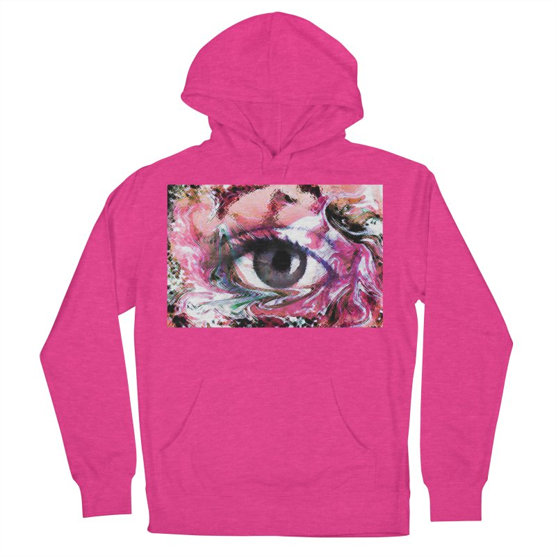 Eye Fancy Pink: Part of the Eye Series Men's Pullover Hoody by InspiredPsychedelics's Artist Shop