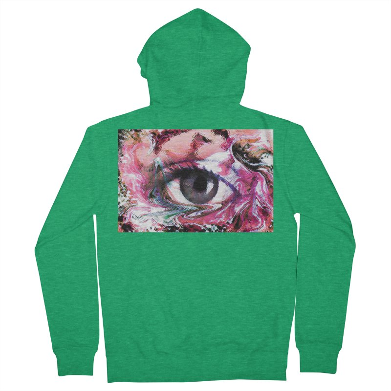 Eye Fancy Pink: Part of the Eye Series Women's Zip-Up Hoody by InspiredPsychedelics's Artist Shop