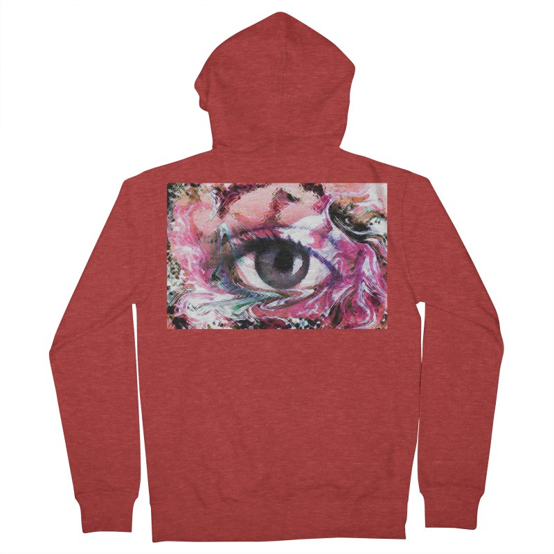 Eye Fancy Pink: Part of the Eye Series Women's French Terry Zip-Up Hoody by InspiredPsychedelics's Artist Shop
