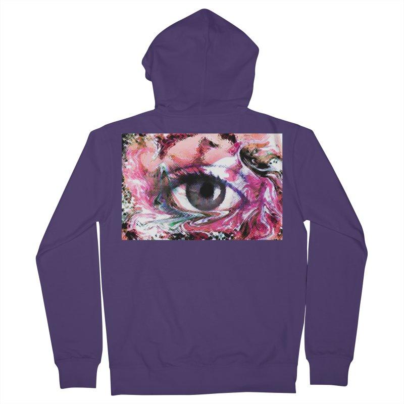 Eye Fancy Pink: Part of the Eye Series Women's Zip-Up Hoody by InspiredPsychedelics's Artist Shop