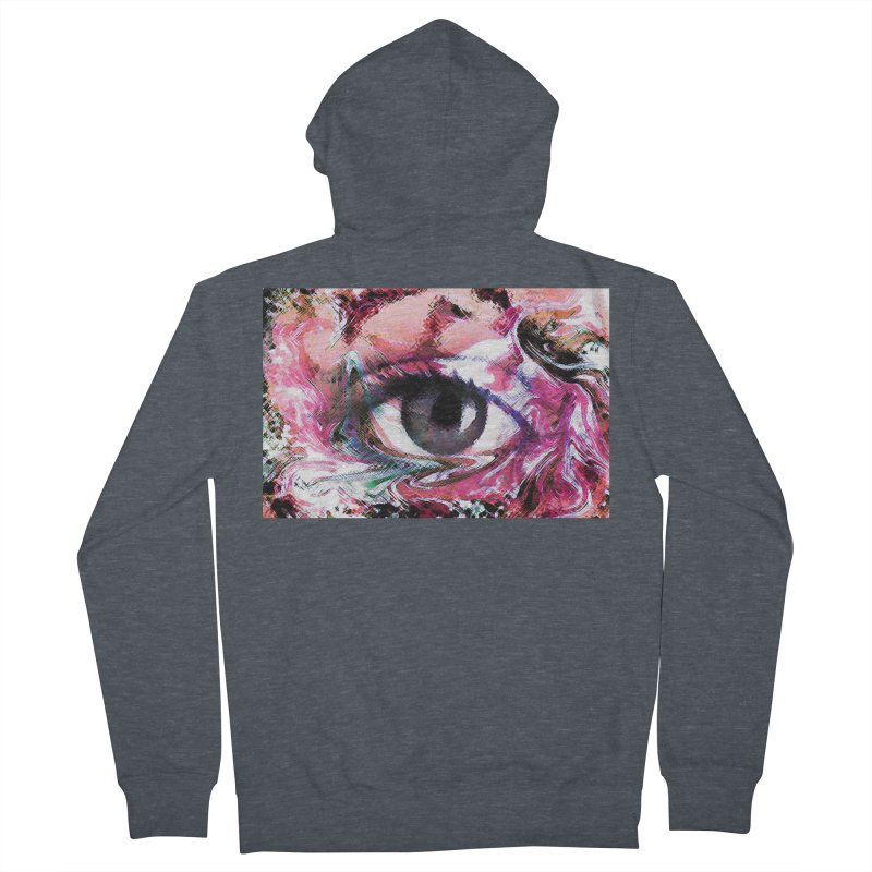 Eye Fancy Pink: Part of the Eye Series Men's French Terry Zip-Up Hoody by InspiredPsychedelics's Artist Shop