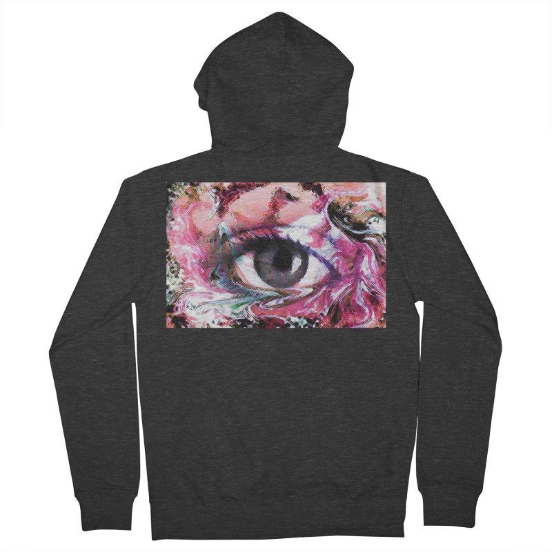 Eye Fancy Pink: Part of the Eye Series Men's Zip-Up Hoody by InspiredPsychedelics's Artist Shop