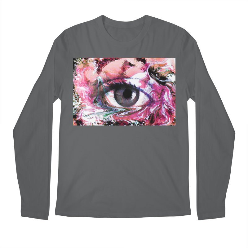 Eye Fancy Pink: Part of the Eye Series Men's Regular Longsleeve T-Shirt by InspiredPsychedelics's Artist Shop