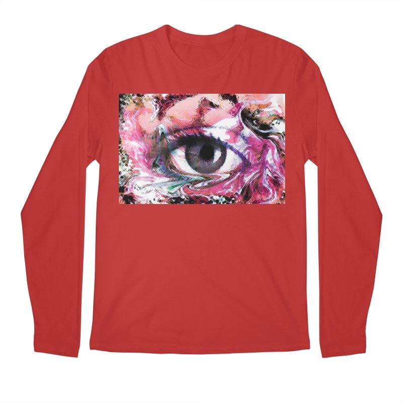 Eye Fancy Pink: Part of the Eye Series Men's Longsleeve T-Shirt by InspiredPsychedelics's Artist Shop