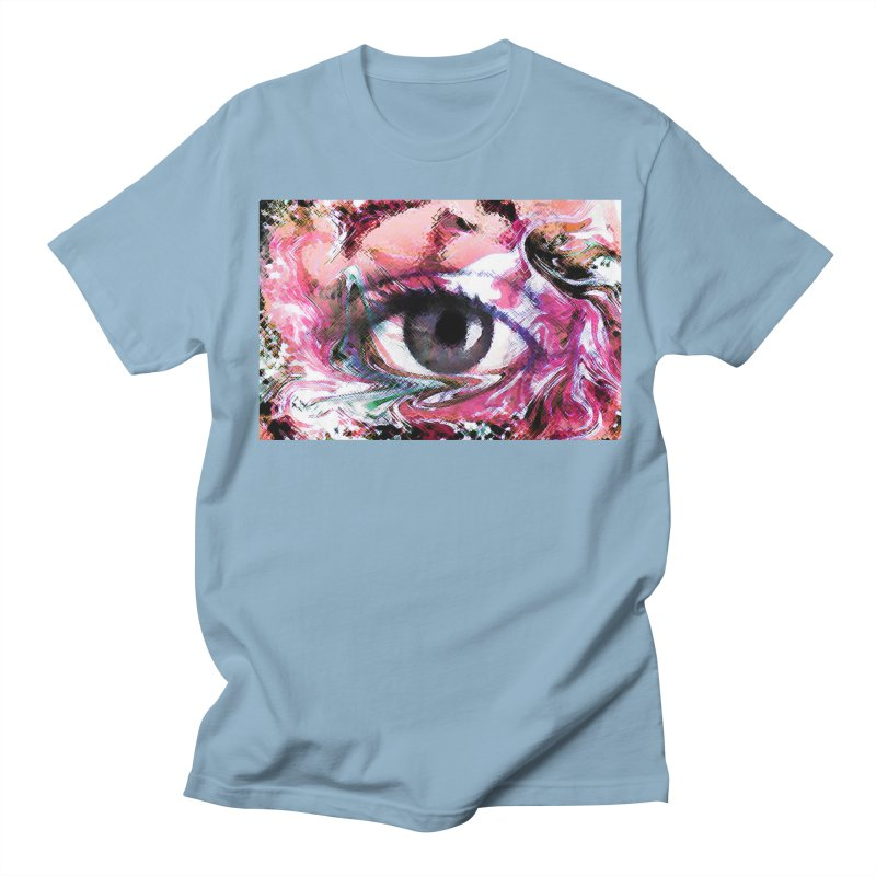 Eye Fancy Pink: Part of the Eye Series Men's Regular T-Shirt by InspiredPsychedelics's Artist Shop