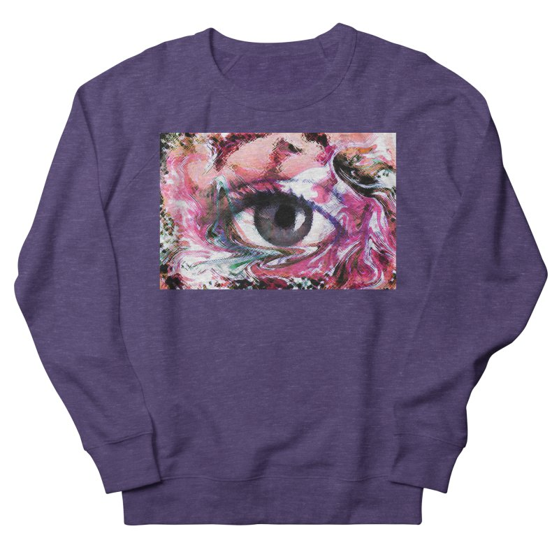 Eye Fancy Pink: Part of the Eye Series Women's French Terry Sweatshirt by InspiredPsychedelics's Artist Shop